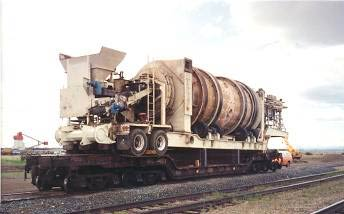 Transport of the ATP60 Shown on a Rail Car to Eastern Canada (circa 1994)